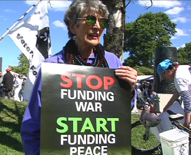 [Marion at Rose Festival Protest]
